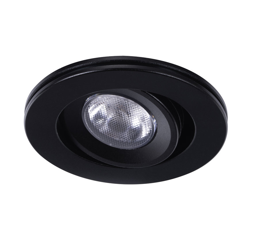 Downlight IP65 Cyprus LED 3watt 2700K 220Lm dimmable black