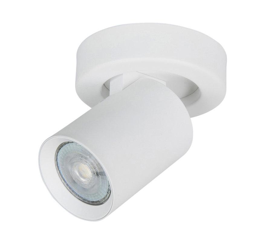 Opbouwspot Oliver 1-licht wit GU10 LED IP20
