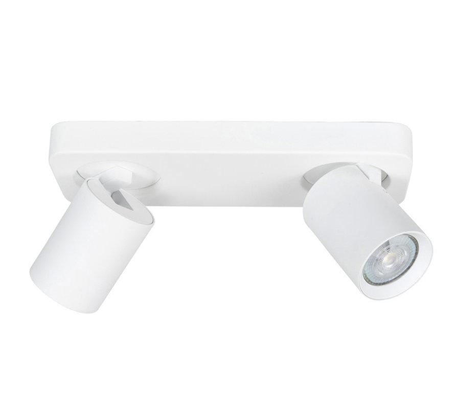 Opbouwspot Oliver  2-lichts balk wit GU10 LED IP20