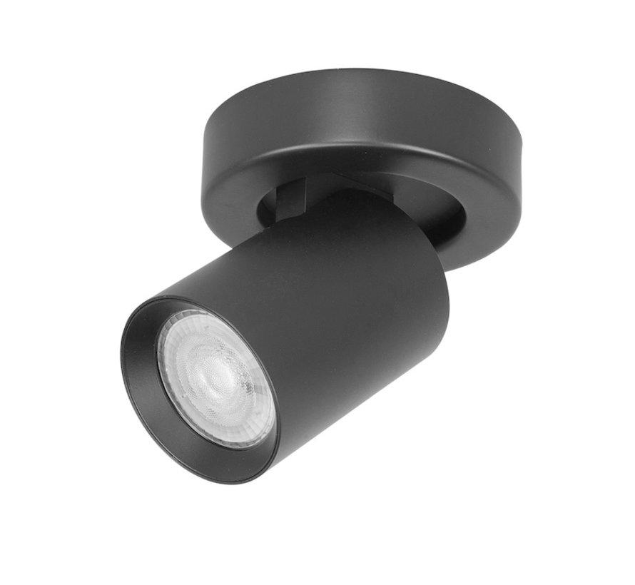 Opbouwspot Oliver 1-licht zwart GU10 LED IP20
