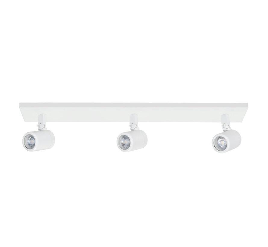 Badkamer opbouwspot RAIN 3-lichts balk wit GU10 IP44
