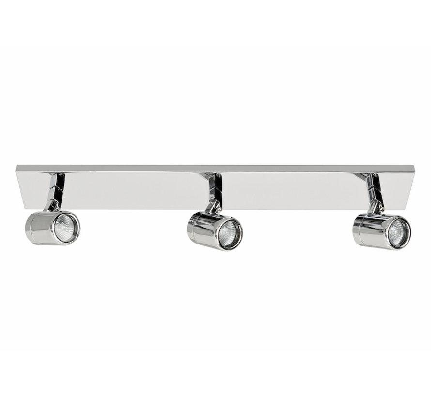 Bathroom spotlight RAIN 3-lights beam chrome GU10 IP44