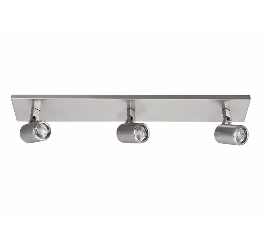 Bathroom spotlight RAIN 3-lights beam steel GU10 IP44