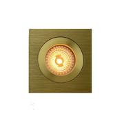 R&M Line LED inbouwspot FIX-Q goud 6W IP65 dim-to-warm