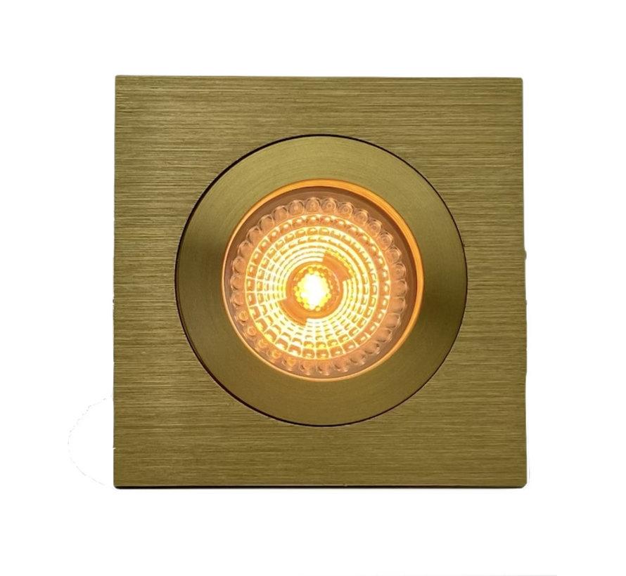 LED inbouwspot FIX-Q goud 6W 3000-1800 kelvin IP65 dim-to-warm