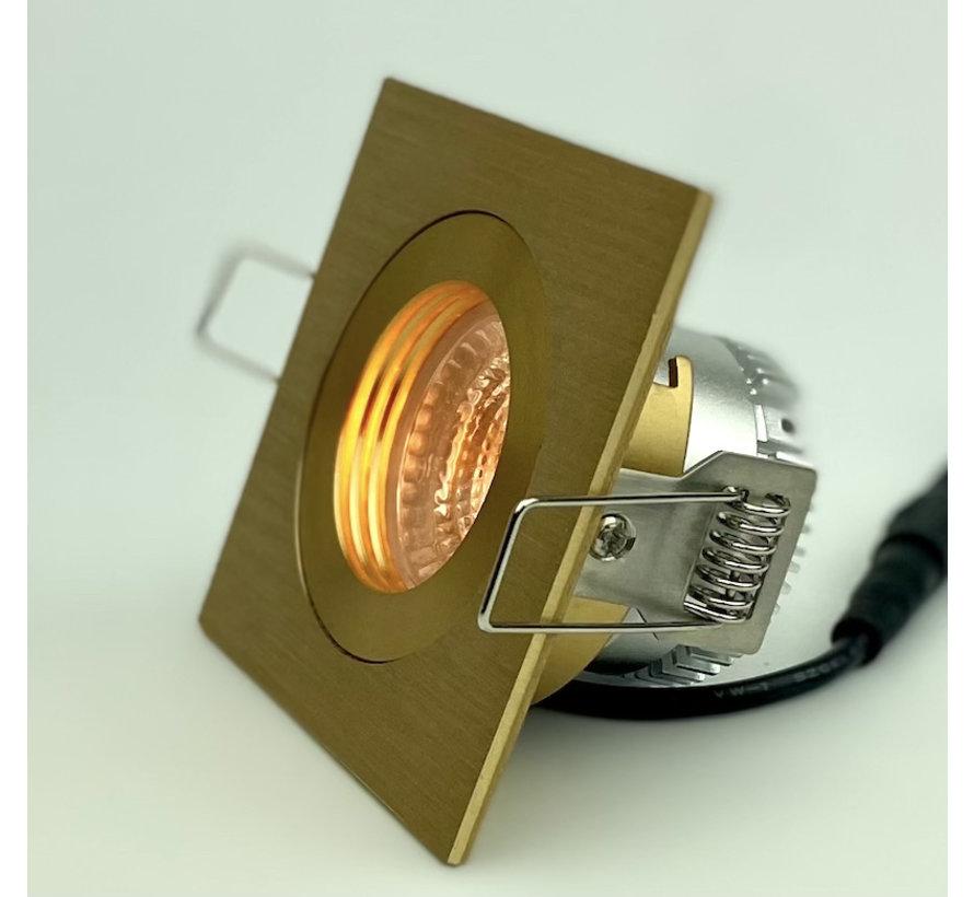 LED downlight FIX-Q gold 6W IP65 3000-1800 Kelvin dim-to-warm