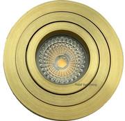 R&M Line LED downlight TILT-R gold 6W IP65 dim-to-warm