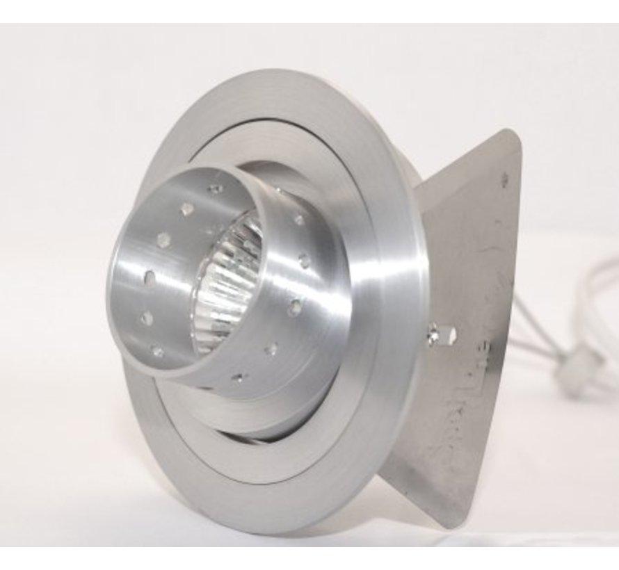 Design inbouwspot 230V GU10  Tilt Blade Gun aluminium