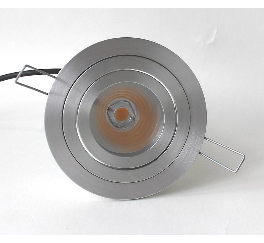 LED downlight round aluminum 8W IP65 dimmable