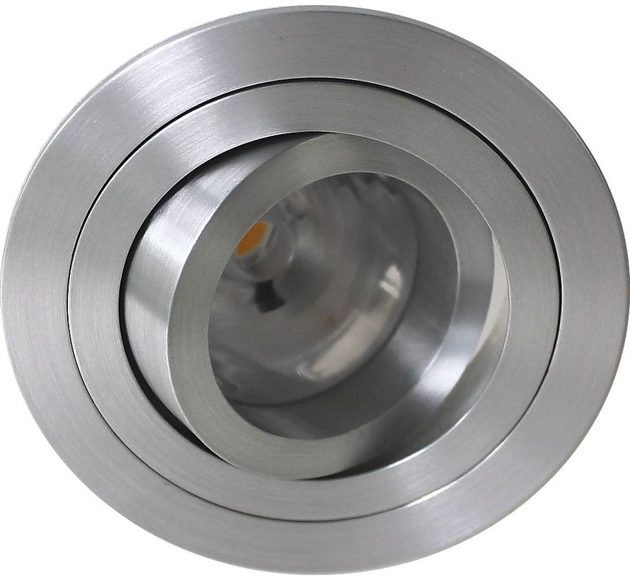 LED downlight round aluminum 9W IP65 dimmable