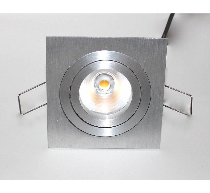 LED inbouwspot Tilt Q aluminium 8W 2700k IP65 dimbaar