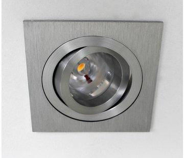 R&M Line LED inbouwspot vierkant alu 8w IP65 dimbaar