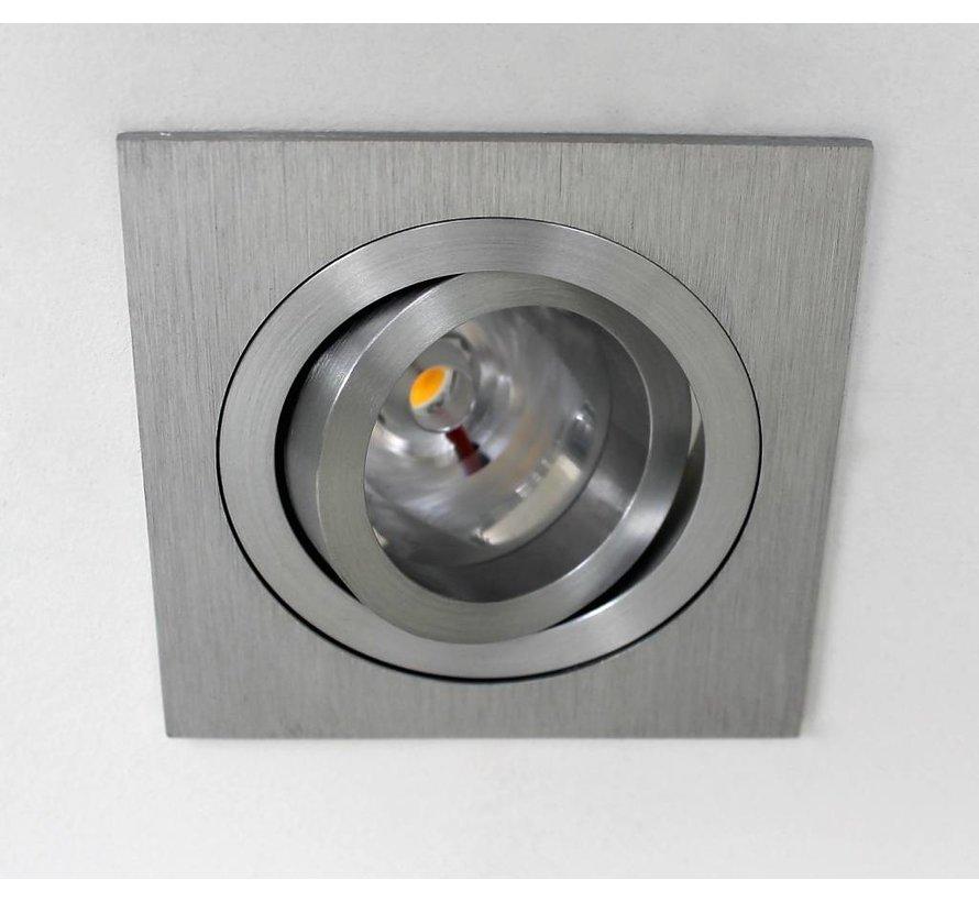 LED inbouwspot Tilt Q aluminium 9W 2700k IP65 dimbaar