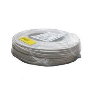 R&M Line Aansluit kabel plat wit 2X0.75 per meter
