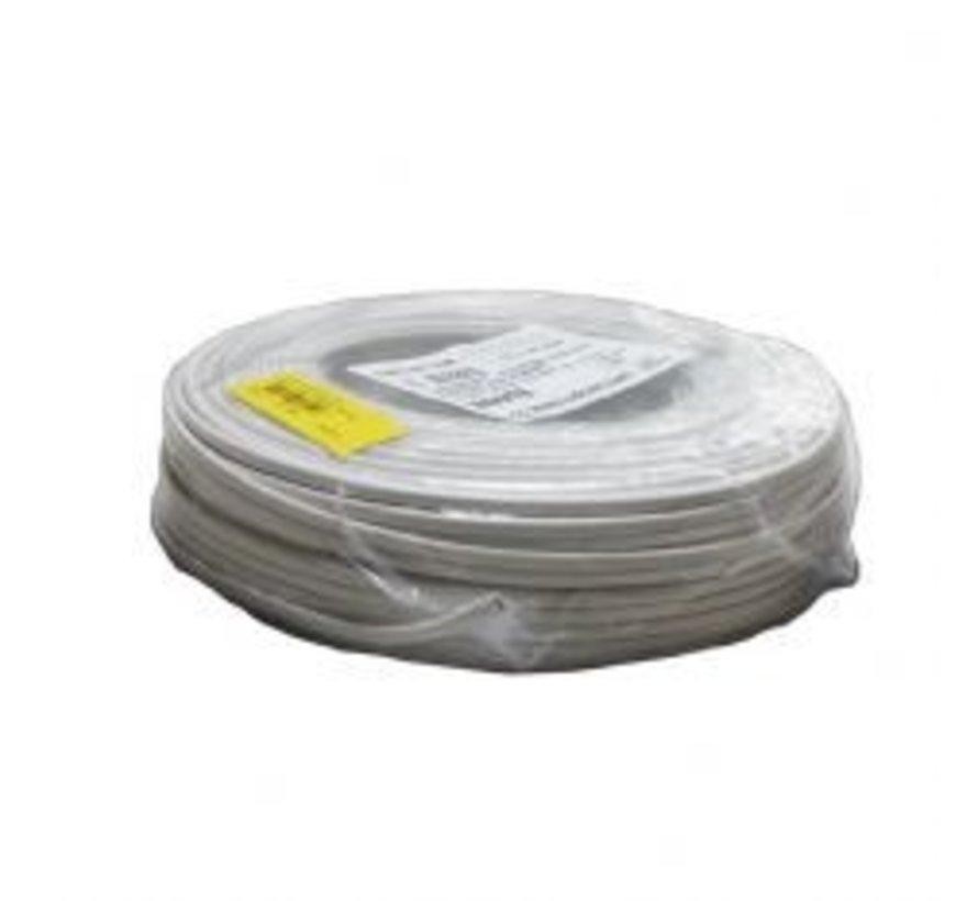 Aansluit kabel plat wit 2X0.75 per meter