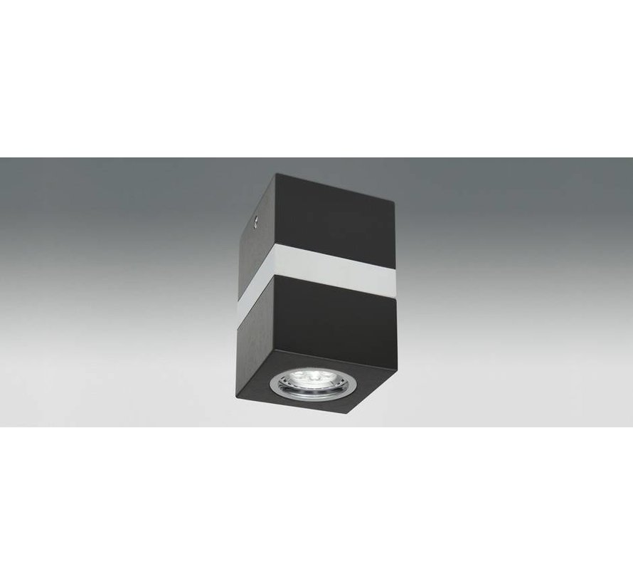 LED opbouw armatuur Gaia zwart GU10 230v