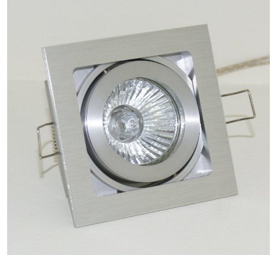 Vierkante aluminium Inbouwspot Qubo GU10