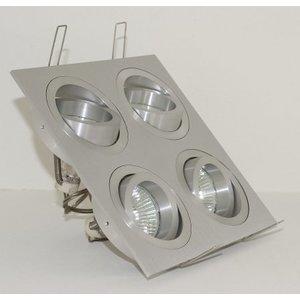 R&M Line Aluminium inbouwspot 4 lichts Tilt Blade 4X50