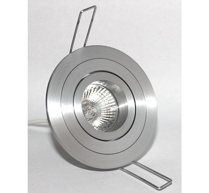 Inbouwspot Mini Tilt Blade 35 Rond  aluminium-mat