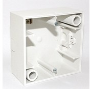 Berker Surface-mounted housing S1 white for recessed dimmers