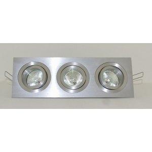 R&M Line Aluminium inbouwspot 3 lichts Tilt Blade 3X50