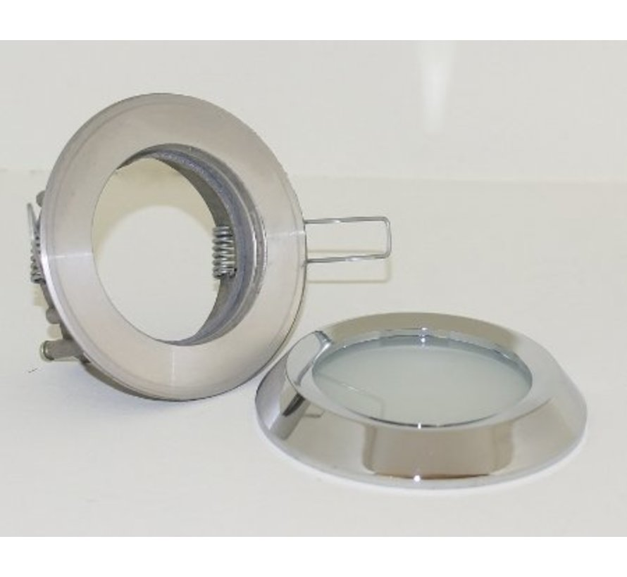 Inbouwspot / badkamerlamp Steam flat IP65 Chroom