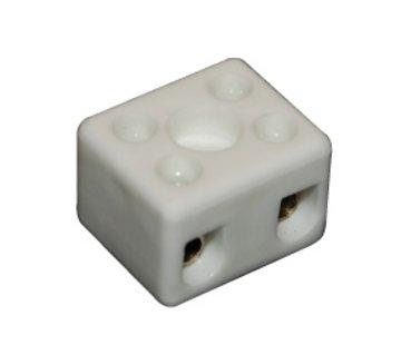 R&M Line Kroonsteen 2 polig porselein 2,5mm2