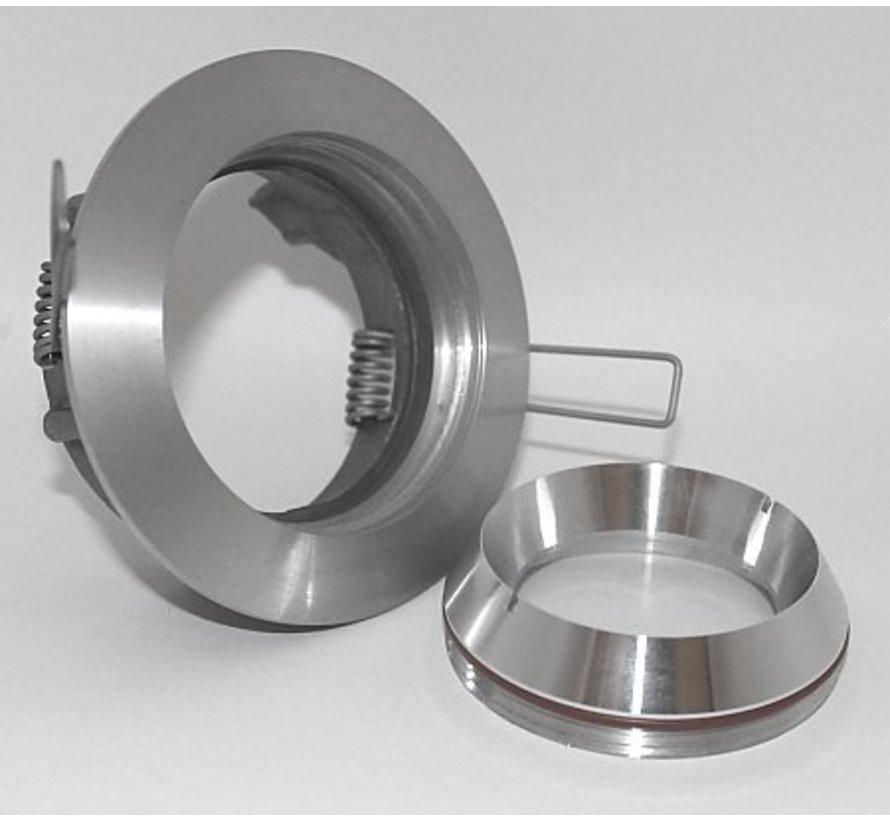 Inbouwspot / badkamerlamp Seal IP65 aluminium-mat