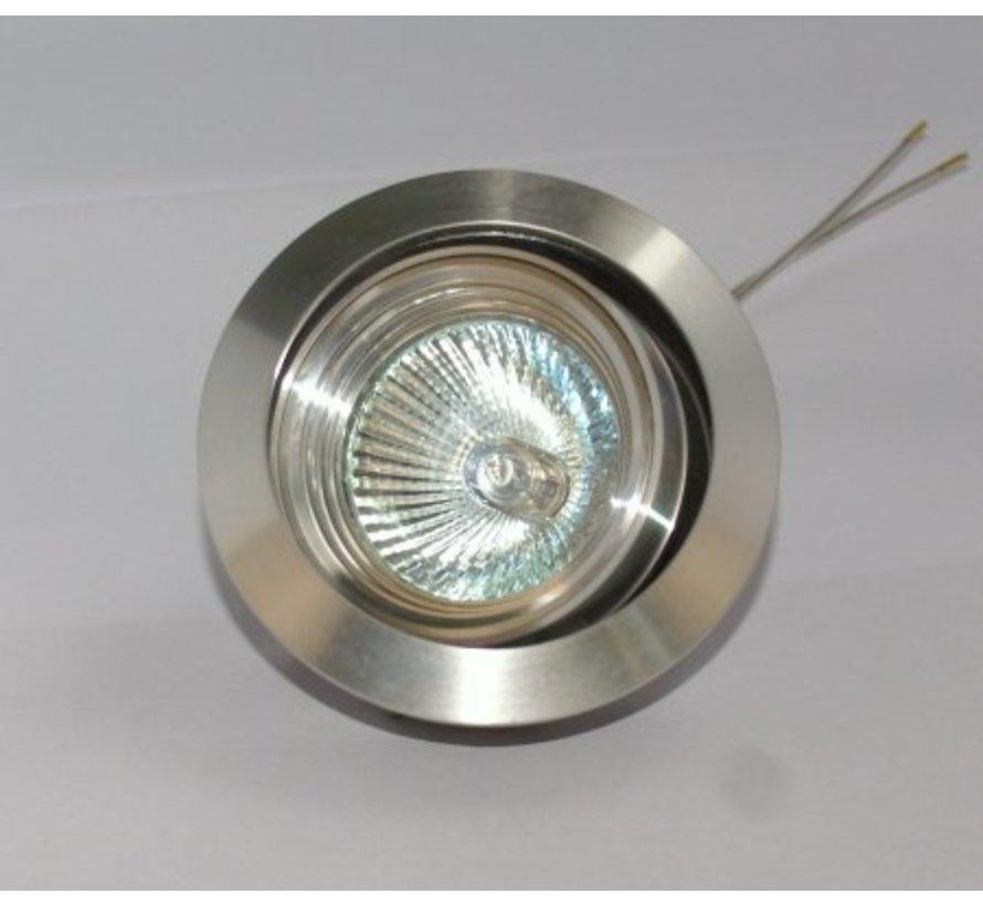 Kantelbare aluminium Inbouwspot Silver Tilt 050 230V GU10