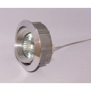 R&M Line Tiltable recessed aluminium spotlight Silver Tilt 050.