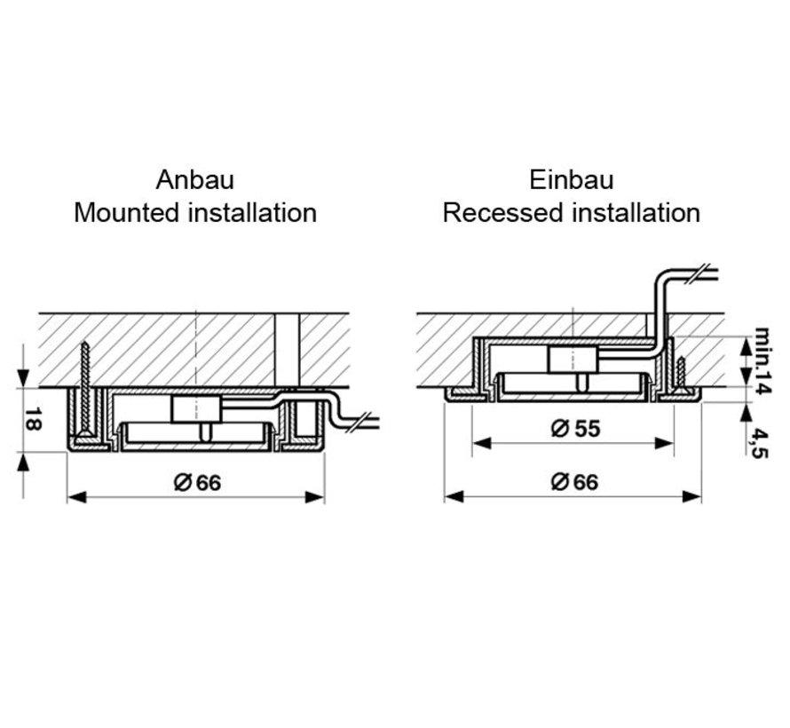 """Sensor & Push in- / opbouwschakelaar """"Soft touch dimmer"""" 230V"""