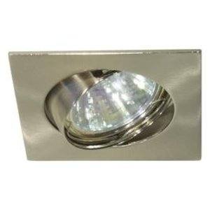 Basic Square recessed dwonlights  tilted 50mm RVS look