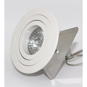 R&M Line Round recessed downlight Tilt Blade round White
