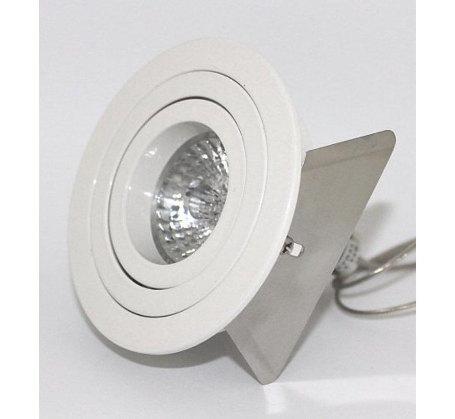 Round recessed downlight Tilt Blade R GU10 White