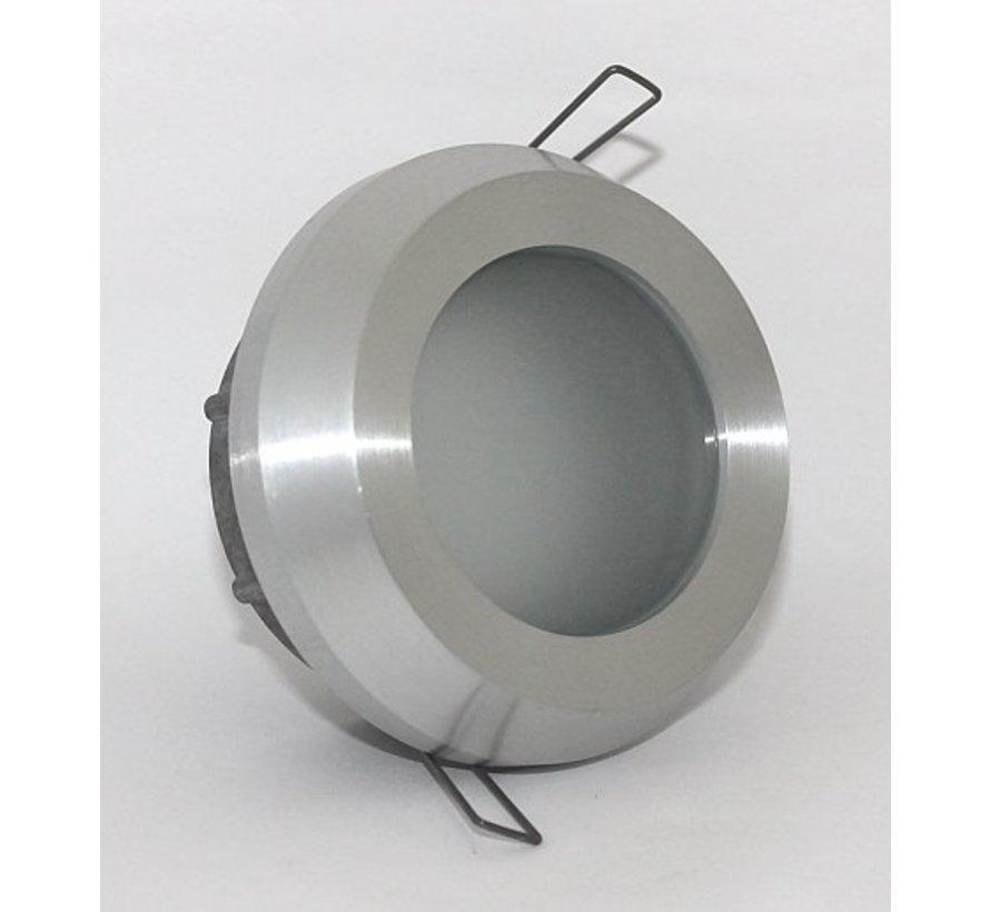 Inbouwspot / badkamerlamp Steam IP65 aluminium-mat kantelbaar