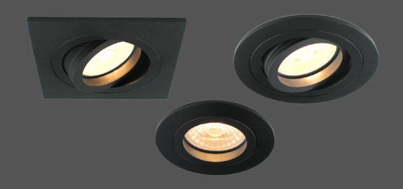 Nieuwe items <br>zwarte inbouwspots voor GU10 LED