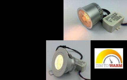 Dim to warm LED module 3000-1800K
