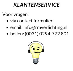 Lighting wholesaler business to business contact R&M Lighting Weesp, The Netherlands