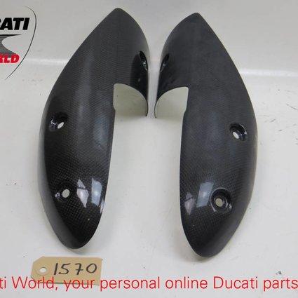 Ducati Ducati Carbon Heat Guard Kit Monster 696/1100