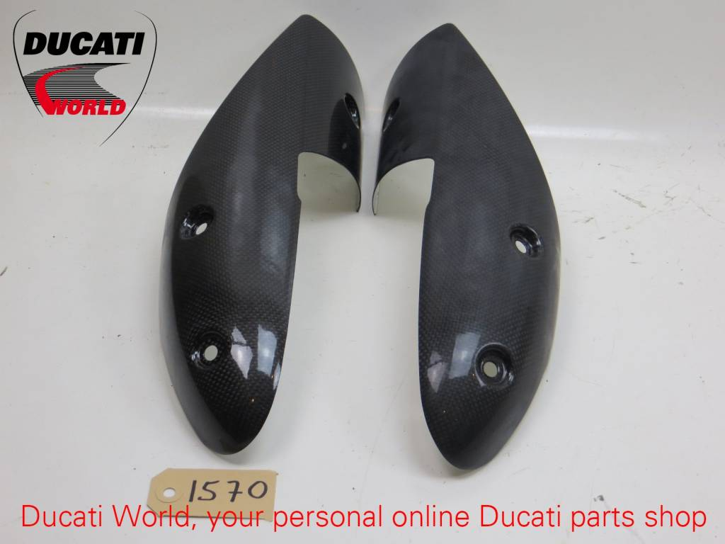 Ducati Ducati Carbon Heat Guard Kit Monster 696/1100