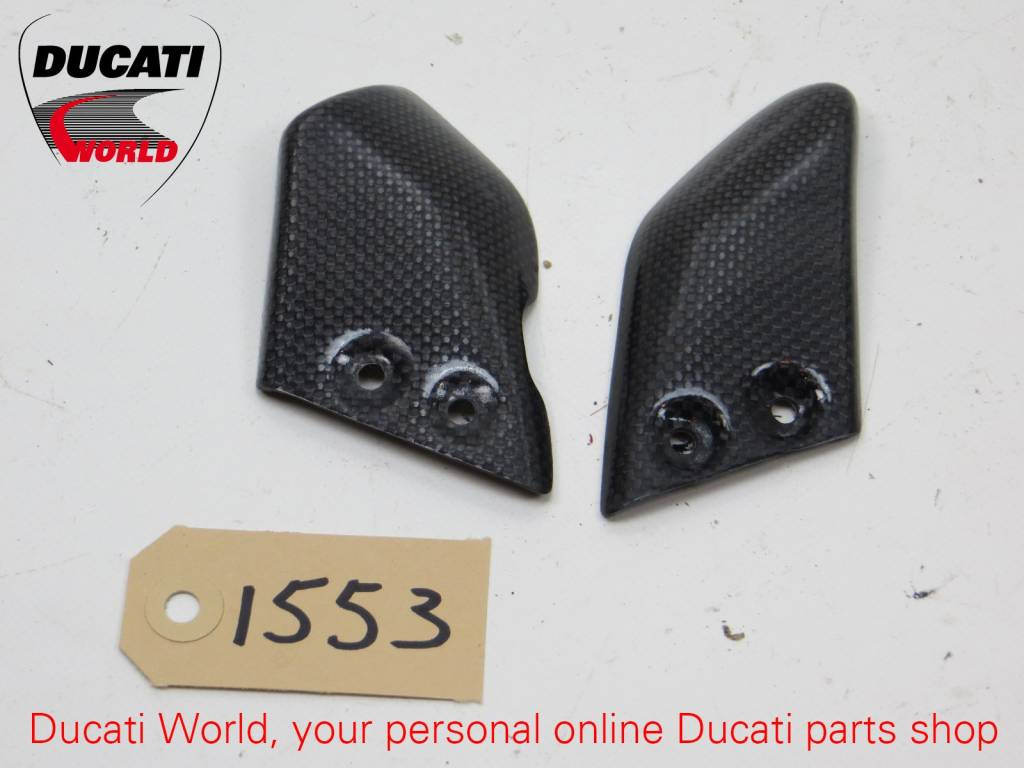 Ducati Ducati Carbon Rider Footpeg Guard Cover Set Monster S4R