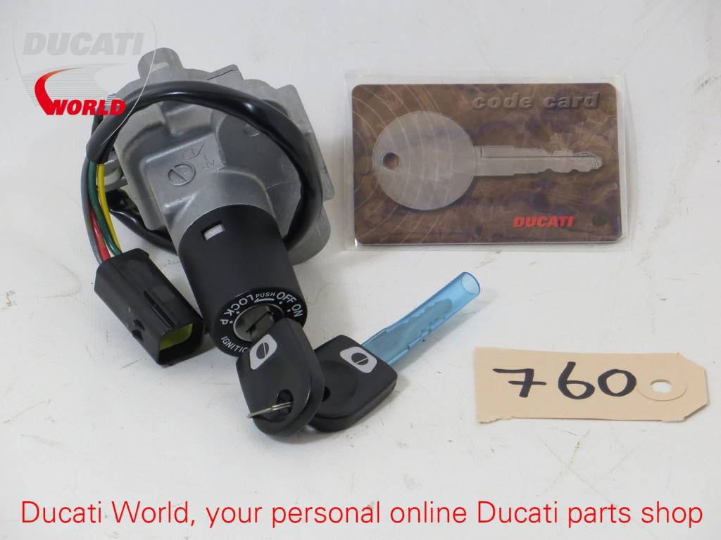 Ducati Key Operated Switch With Codes SBK 848/1098/1198