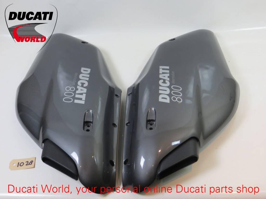 Ducati Ducati LH & RH Front Upper Fairing Grey Sport 800 Desmodue