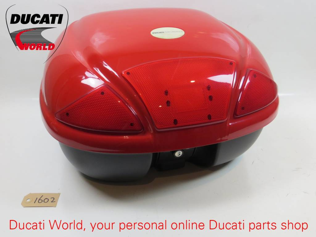 Ducati Performance Ducati Performance Red Top Case Kit 36 Liter Monster 2001 *With Damaged Paint & Without Lock*