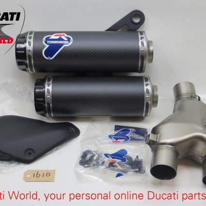 Ducati Ducati Termignoni Carbon Homologated Silencer Kit Monster 1200 (D145) 1008