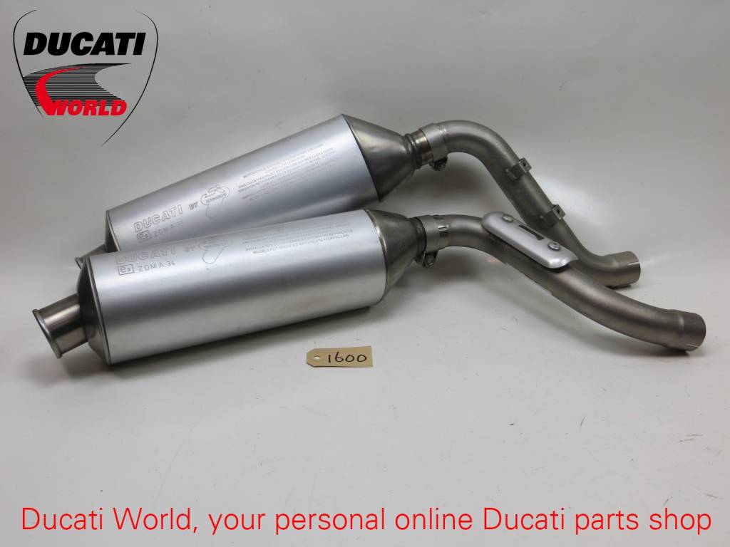 Ducati Ducati Termignoni Top and Bottom Silencer Set With Pipes Monster S4
