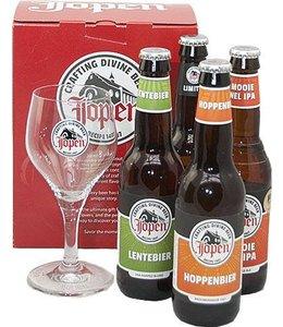 Jopen Bier - Geschenkset 4 flesjes + glas - 330ml