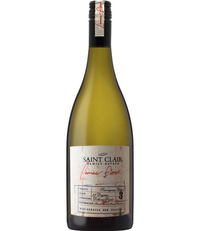 Saint Clair Pioneer Block 3 - sauvignon blanc  - Marlborough 2019