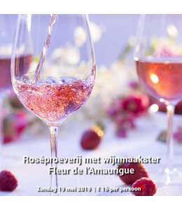 Proeverij van rosé wijnen 19 mei 2019