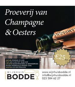 Proeverij van Champagne en Oesters